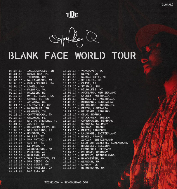 blank face world tour