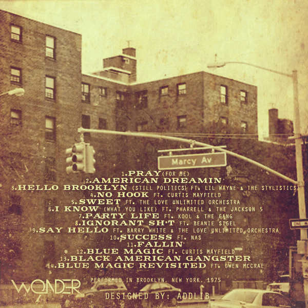 9th Wonder Black American Gangster back cover